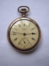 Antique Buren Gold Filled Pocket Watch Engraved Birds Roman Numerals Works Well