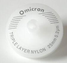 Omicron Syringe Filter Non-Sterile 25mm, 0.45um, Triple Layered GF+GF+Nylon 10Pk