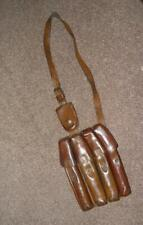 Antique Tan Leather 4 Pocket Serbian Army Ammunition Pouch With Shoulder Strap