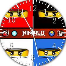 "Lego Ninjago Ninja Wall Clock 10"" will be nice Gift and Room wall Decor W418"
