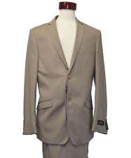 Men's Formal wool feel light tan color Suits ( 40 S / 34 )