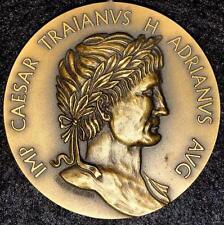 Roman Emperaror Hadrianus Augustus / Bronze Medal By Inacio Sa. Exonumia. M.11a