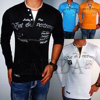 ZAHIDA Herren Sweat-Shirt Longsleeve Langarm Hemd Sweatshirt T-Shirt S-3XL NEU