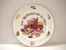 "Vintage Charger Plate  Royal Vale 12""  Les Richesses de la Mer Lobster Shrimp"