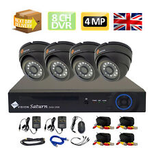 FULL KIT CCTV 4MP Plug and Play HD e l'4 sistema di telecamere Dome GRIGIA 8 Channel DVR