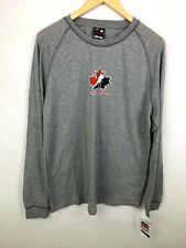 NEW Mighty Mac Team Canada Hockey Long Sleeve Shirt Size Boys Large 14 16 Gray