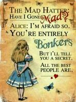 Inspirational Quotes Alice in Wonderland  A4 Card Picture Poster  Art Decor