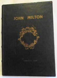 Book Box Hidden Jewelry Secret Fake Faux Vintage, Paradise Lost, Milton (#921)
