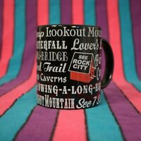 Rock City Coffee Mug Tea Cup Black Red Lookout Mountain Fairyland Caverns
