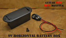 TONE MONSTER 9V Horizontal Battery Box w/ Battery Clip & Mounting Screws