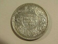 India-British 1911-B 1 Rupee Silver Coin