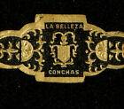 83-AzC-VITOLA Antigua-Cigar Band-Marca LA BELLEZA, CONCHAS