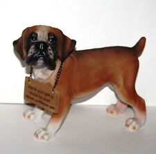 More details for standing boxer - 33cm wide dog sculpture ornament *new* boxed