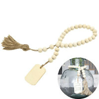 DIY Tag Home Vintage Kids Garland With Tassels And Wood Bead Beads Home Decor