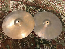 "PAISTE BLACK LABEL 2002 14"" VINTAGE HIHAT DRUM CYMBALS"