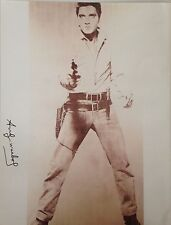 WESTERN ANDY WARHOL HAND SIGNED SIGNATURE * SINGLE ELVIS *  PRINT  W/ C.O.A.