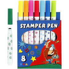 8 Stempelstifte Stempelmarker Stempelset Stempel 8 Motive schöne Farben f. Kids