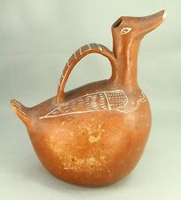 !Herón Martínez Mendoza (1918-1990) Folk Art Redware Vessel  Zoomorph Ewer Duck