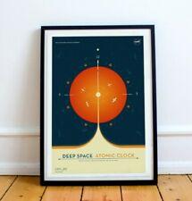 NASA's Deep Space Atomic Clock - Orange - space - Wall Art / Poster