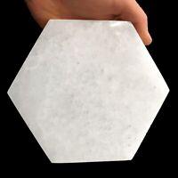 "XL Selenite ""Charging"" Plate Polished Hexagon Natural Crystal Display Plate Wand"