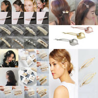 Elegant Women Pearl Hair Clip Bobby Pin Barrette Stick Hairpin Hair Accessories