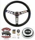 1967-1975 Jeep Cj5 Cj6 Steering Wheel 13 12 Classic Chrome
