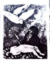 Marc Chagall offset lithograph Bible  paris maeght 1960 original  2 sided 141