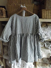 Linen Tunic, Kaftan Striped Tops & Shirts for Women
