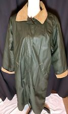 Ladies' Medium Woolrich Waxed Cotton & Wool Trench Coat Barn Jacket Made in USA