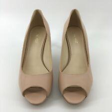 Nine West Womens Gelabelle Peep Toe Classic Leather Pumps Light Pink Size 8.5