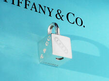 Tiffany & Co 1837 Cube LOCK argento Sterling Charm Lucchetto solo