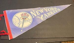 "1960's NEW YORK YANKEES FULL SIZE 30"" STADIUM SOUVENIR BASEBALL PENNANT"
