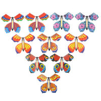 10 x magic butterfly flying butterfly with card Toy with empty ha NPLS#