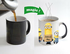 Custom Name Minion Mug Magic Color Changing Heat Sensitive Tea Cup Coffee Mug