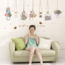 Beautiful Flower Plant Removable Decal Art Mural Wall Sticker Home Room Decor
