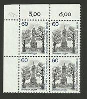 4er Block Eckrand oben links, Mi.Nr. 636, Berlin, postfrisch