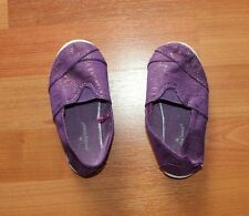 Girls Purple Glittering Slip-on Sneakers Canvas Jumping Beans Toddler Size 7