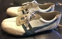 Steve Madden Mens Sweeper Sneakers Size 10 Leather Suede Shoes Vintage Style VTG