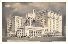 Erie PA~Lawrence Hotel~New Addition~Reed Anshutz Mgr~1930s Lumitone Postcard