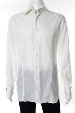 Billionaire Boys Club Couture para hombre de algodón blanco botones Camisa Medio