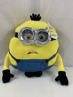 "Minions BOB Pillow 18"" Buddy Plush Rise Gru Braces Goggles Despicable Me NWT"