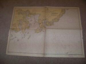 1945 4th Edition Map National Ocean Survey Moose Cove Englishman Bay Machias ME