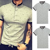 Mens Classic Short Sleeve Summer Golf Sport Shirts Solid T-Shirt Casual Tops Tee