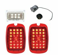 United Pacific LED Tail Light Set 1937-1938 Chevy Car and 1940-1953 Truck