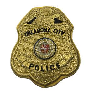 Rare Vintage Oklahoma City Police Dept Gold Badge Patch