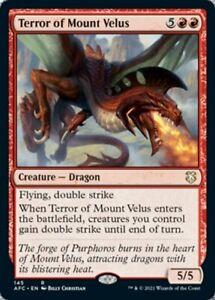 Terror of Mount Velus D&D AFR Commander Magic MTG