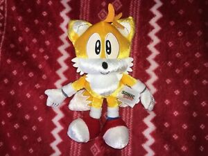 "Official TOMY 8"" TAILS 25TH ANNIVERSARY Sonic Plush Toy Doll 2016"