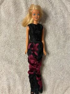 OOAK Gothic looking  Malibu Francie TLC with outfit for project or repair