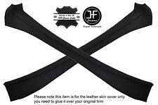 BLACK STITCHING 2X INNER DOOR PILLARS LEATHER COVERS FITS FIAT X1/9 X19