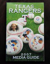 2007 Texas Rangers Media Guide. Millwood, Mark Teixeria, Young, Ron Washington.